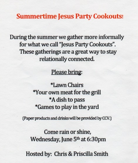 Jesus Party Invitation