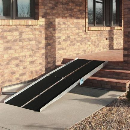 A multifold ramp like this one provided access from our garage into our house.