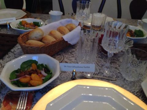 A place setting at our 2013 Thanksgiving dinner.