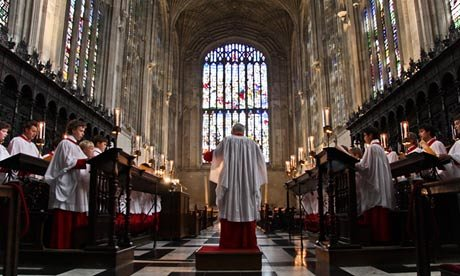 The choir of King's College Chapel, the musicians behind the Christmas Eve service heard around the world.