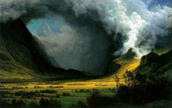 "Albert Bierstadt, ""Storm in the Mountains,"" c. 1870, Museum of Fine Arts, Boston"